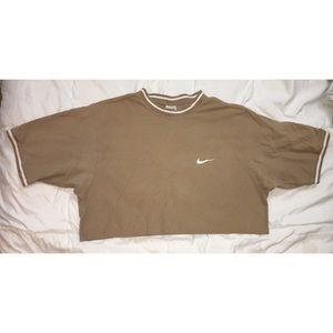 Vintage 90's Nike raw hem crop top